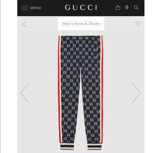 FLASH SALE GG jacquard cotton jogging pants